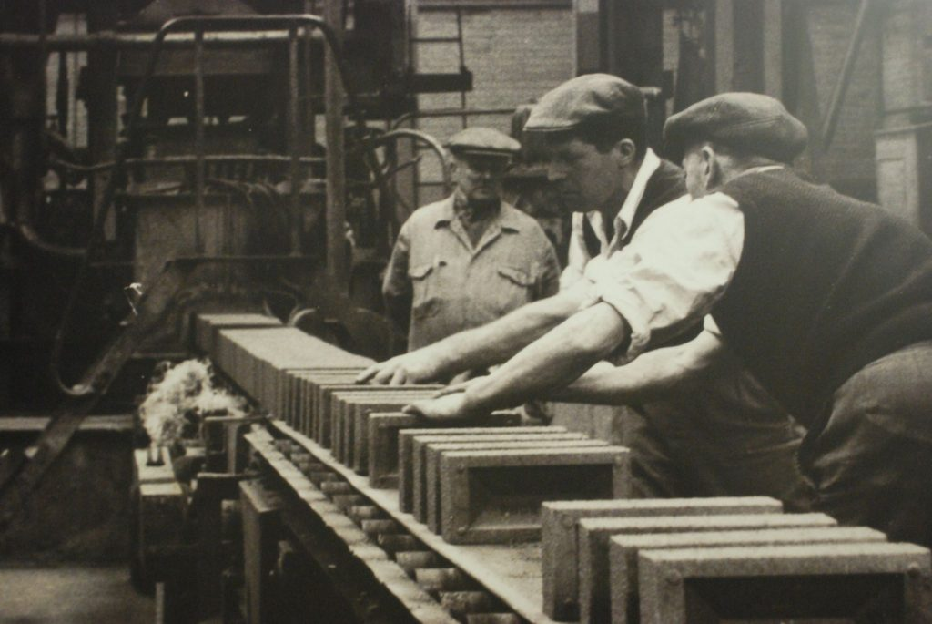 Making bricks at Stewartby, Bedford