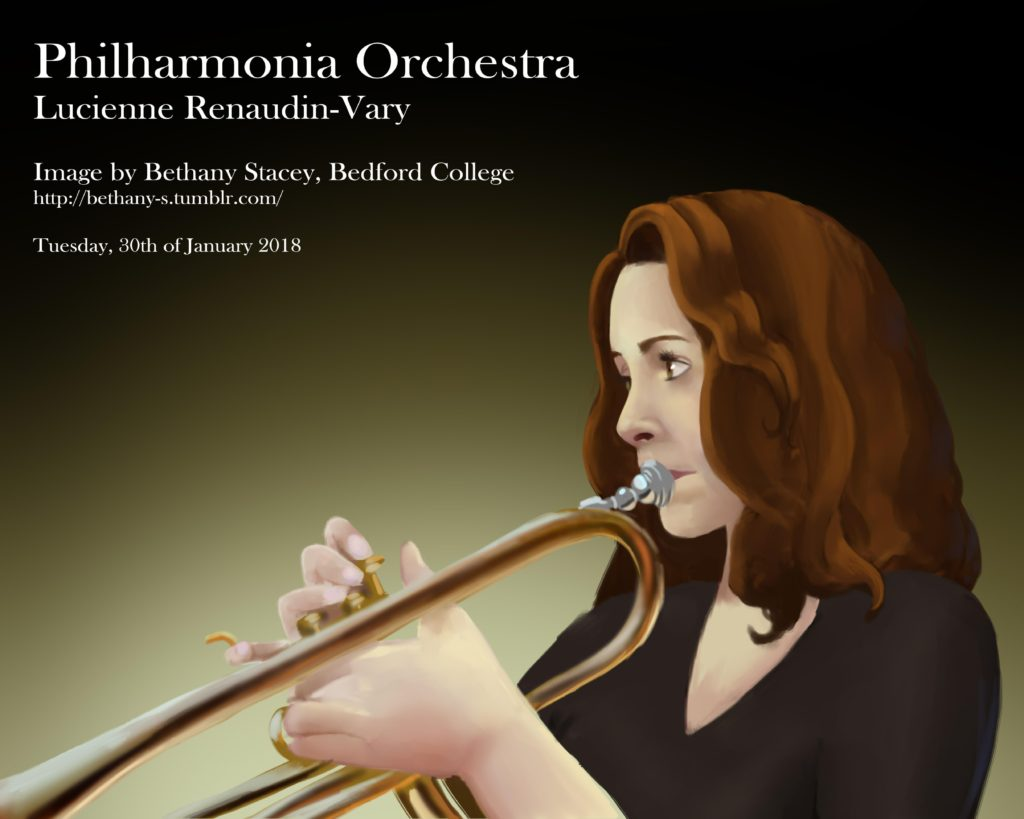 Bethany's digital painting in response to The Philharmonia Orchestra concert