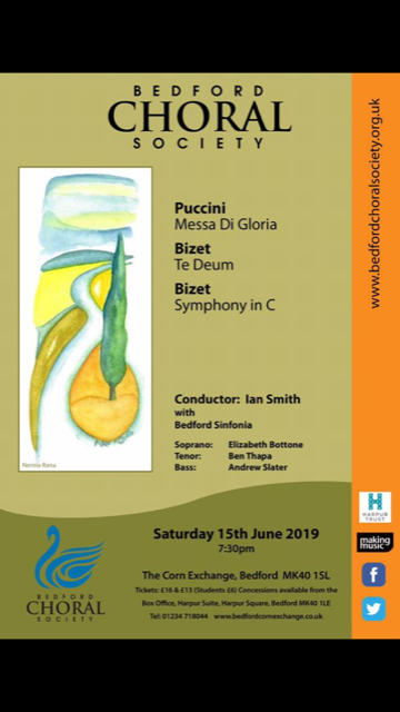 Bedford Choral Society poster